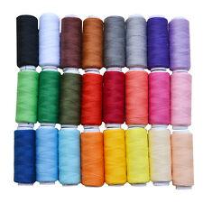 Machine Embroidery Sewing Polyester Thread Lot Colorful 200 Yard Each 24 Spools