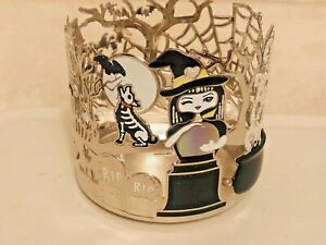 Bath & Body Works Halloween Candle Holder Witch Haunted House Crystal Ball NEW