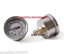 Fuel Pressure Gauge Glycerine /  Filled For FPR Regulator Rail Pump etc 1/8 npt