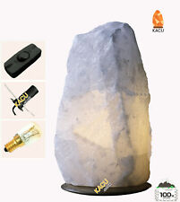 White Himalayan Salt Natural Lamp 7-9 KG With All Fitting  Christmas present NEW