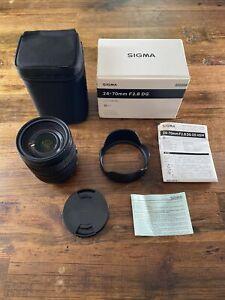 Sigma 24-70mm f/2.8 DG OS HSM Art Lens Canon EF Mount