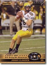 (100) JIMMY CLAUSEN Notre Dame / Ravens 2010 US Army All American H.S. Bowl LOT
