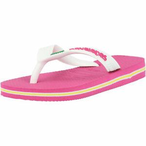 Havaianas Kids Brasil Logo Hollywood Rose Rubber Child Flip Flops Sandals