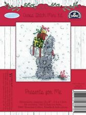 DMC Me to You Christmas Tatty Teddy Cross Stitch Mini Kit - Presents for Me