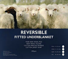 Reversible Fitted Underblanket | Pure New Wool Pile | New Wool Filling | King