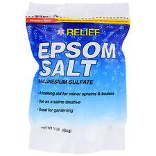 RELIEF Epsom Salt Magnesium Sulfate / Fertilizer *NET WT 1 LB (454g)