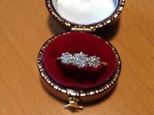 Antique Art Deco 18ct Gold & Platinum, Diamond Three Stone Ring ~ Size J1/2