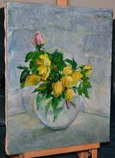 Olga KOCH (1878-1954)     Blumenstilleben      Gelbe Rosen  1935