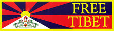 Free Tibet - Human Rights Bumper Sticker / Decal