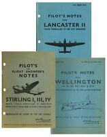 LANCASTER, STIRLING & WELLINGTON PILOTS NOTES: + BONUS INFO/DATA PACKS
