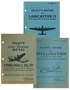 LANCASTER, STIRLING & WELLINGTON RAFBOMBERS PILOTS NOTES/ ADDED VALUE PACKS/DVD