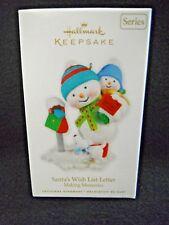 Hallmark Santa's Wish List Letter #3 in Making Memories Series NEW 2010 Snowman