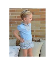 SEWING PATTERNS Paper Pattern boys' BLOUSE+BLOOMERS Toddler's Baby's SPANISH KID