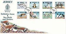 (98765) GB Jersey FDC Seabirds & Waders 28 January 1998