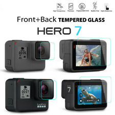 Tempered Glass Screen Protector for Black Go Pro Hero 7 Lens Camera + LCD