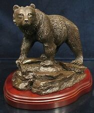 Grizzly Bear, Fishing - Ballantynes Bronze Finish Resin Statue B836