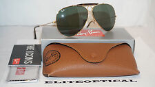 New Authentic SHOOTER RAY BAN RAYBAN Gold/Green Classic G-15 RB3138 181 62 140