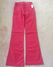 Gap NWT Bouy Red Patch Pocket Authentic Flare Pants Jeans 00 $70