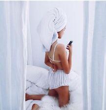 Brandy Melville high waisted white/black striped cotton Ruffled Vodi Shorts S/M