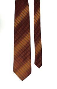 Romeo Gigli Vintage Multicoloured Plaid Diagonal Stripe Pattern Silk Tie 9.5 cm