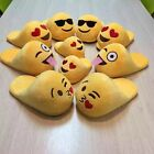 Emoji Plush Stuffed Unisex Slippers Cartoon Winter Home Indoor Shoes Slipper Hot
