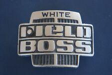 WHITE TRUCK, ROAD BOSS BELT BUCKLE CLASSIC HEAVY CAST  NO WARE ON BUCKLE