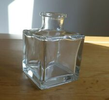 🌸 Small Square Clear Glass Jar Single Flower Bud Vase