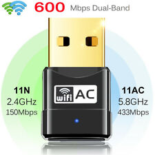 600Mbps USB Wireless WLAN Adapter Mini WiFi Dongles dual band Für PC TV BOX