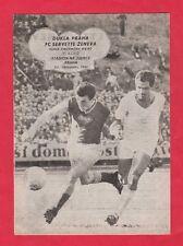 Orig.PRG  European Cup  1961/62  DUKLA PRAG - SERVETTE GENF  1/8 FINAL  !!  RARE