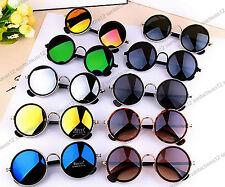 Nuevo Retro Redondo Gafas de Sol Vintage Lente Espejo UV400 Mujer Mujer