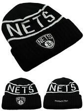 Brooklyn Nets New Mitchell & Ness NY Black White Reflective Beanie Era Hat Cap