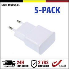 5-PACK LADER OPLADER CHARGEUR PRISE ADAPTER WALL PLUG CHARGER FOR IPHONE SAMSUNG