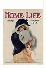 JANUARY 1913 HOME LIFE MAGAZINE COVER CHICAGO PRETTY GIRL AD PRINT #B585