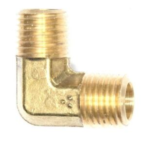 "1/2"" Male BSP 90 Degree ELBOW Brass Fuel, Air, Water, Oil, Gas British Metric"