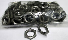"""(Lot of 100) 1/8"""" Thick - 1/8 IP Steel Hex Nuts - Unfinished Steel"""