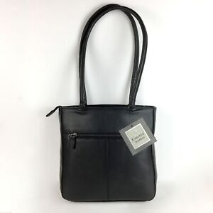 Coletta Structured Black Leather Shoulder Bag New with Tags!
