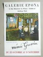 Affiche originale Mémée GROSSIN Fernande Galerie Epona Art naïf  Bordeaux