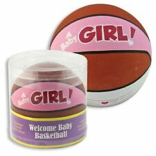 It's a Baby Girl Mini Basketball - For Baby Shower Gift or Keepsake