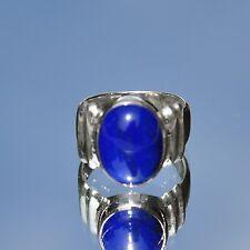 Lapislazuli Ring, 925er Silber, Edelsteinring (20185), Echtschmuck, blau