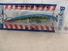 """Bay Rat Lures Long Shallow Minnow Blue Tiger 4 1/8"""" New In The Package B8"""