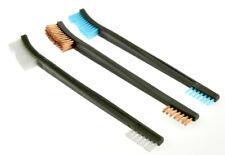 3 Piece Gun Rifle Pistol Cleaning Brushes Brush Copper Nylon Plastic Double End