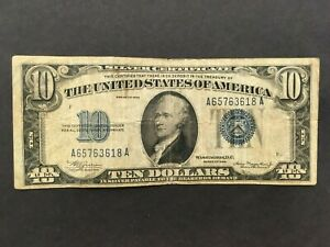 USA  10 Dollars  1934  -- Silver Certificate  --   (A6)