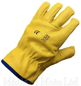 Himalayan Drivers Gloves Lined Leather Builders Farmers HGV Gardening Work
