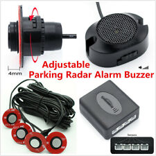 Universal 4x 16mm Flat Parking Inset-in Sensors Car Reverse Backup Radar Alarm