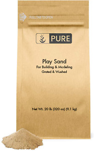 Play Sand (20 lbs) Eco-Friendly Packaging, Highest Quality, Building & Molding,