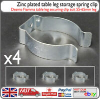 4x Camper Island Table Leg Spring Clip Zinc Storage Clip - Caravan Barge Camper
