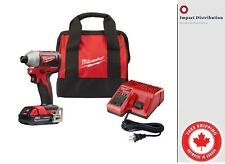 "Milwaukee 2850-21 M18 Compact GEN II Brushless 1/4"" Hex Impact Driver Kit"
