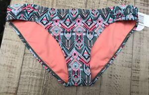 New Hot Water Bikini Swim Suit Bottoms Green Size L