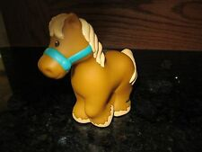 Fisher Price Little People Tan Beige Horse Pony teal halter farm barn stable NEW