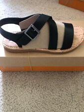New Korks Kork Ease Women's Justicia Cross Strap Sandals Black Q47409 6.5 Shoes